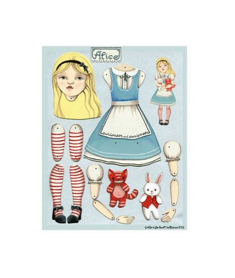 printable jointed paper doll 24 best alice in wonderland paper doll images on pinterest