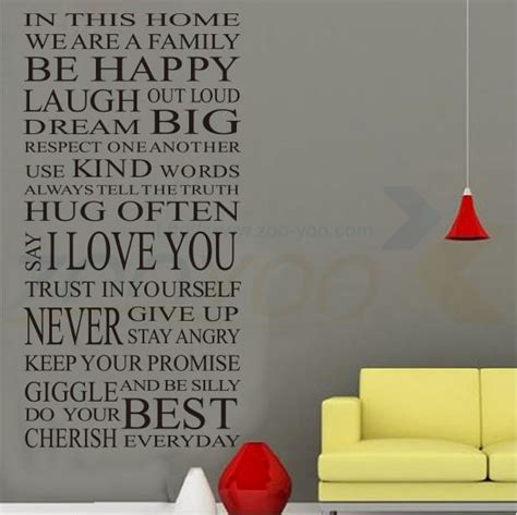 happy home decor house rules happy home decor creative quote wall decal
