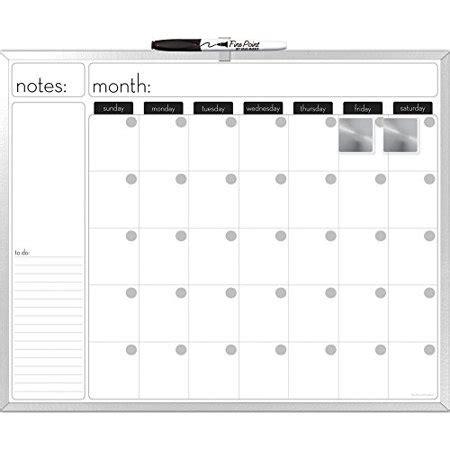 board dudes  inches aluminum framed magnetic dry erase calendar   marker
