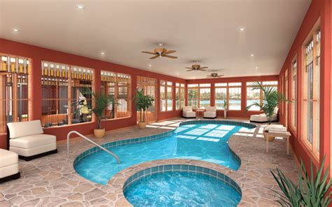 Kitchen Extravagant Indoor House Plans With Pools House Plans Pool Room