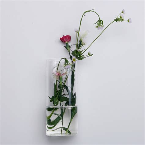 Wall Mounted Flower Vases by Wall Mounted Shaped Glass Flower Vase Home