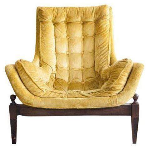 bucket armchair mid century yellow velvet tufted bucket chair