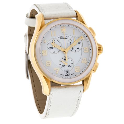 Swiss Army Rj Black Ring Gold In White Color Fashion victorinox swiss army classic white leather chrono 241511