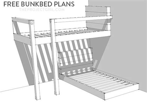 Free Bunkbed Plans How To Design And Build Custom Bunk Easy Bunk Bed Plans