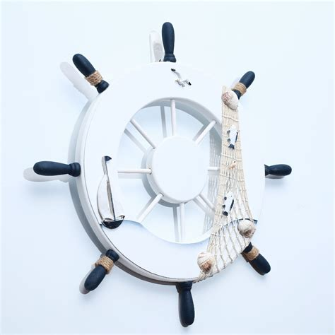 45cm 17 7 wooden rudder decoration wall hanging boat ship