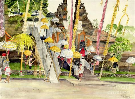 festival painting di bali festival hindu ceremony painting by melly terpening