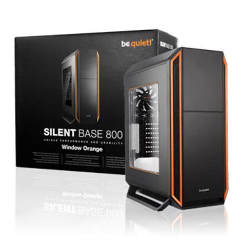 D1163 Be Gaming Silent Base 800 With Side Wind C1163 be silent base 800 black orange windowed silent
