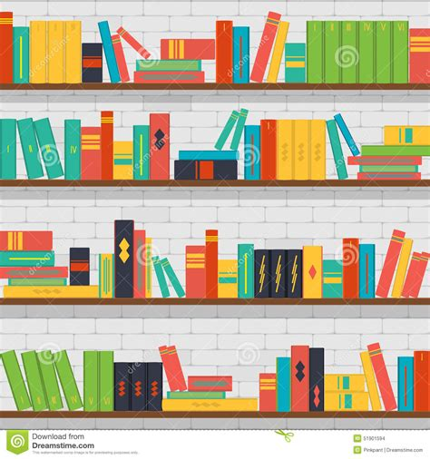 background pattern book seamless pattern bookshelves books on the brick wall