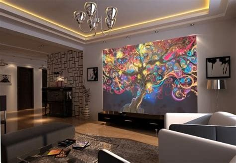 modern mural tree psychedelic and abstract wall mural 6 7 inch by 4 7 inch modern