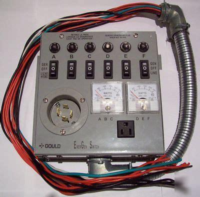 emergen generator transfer switch panel
