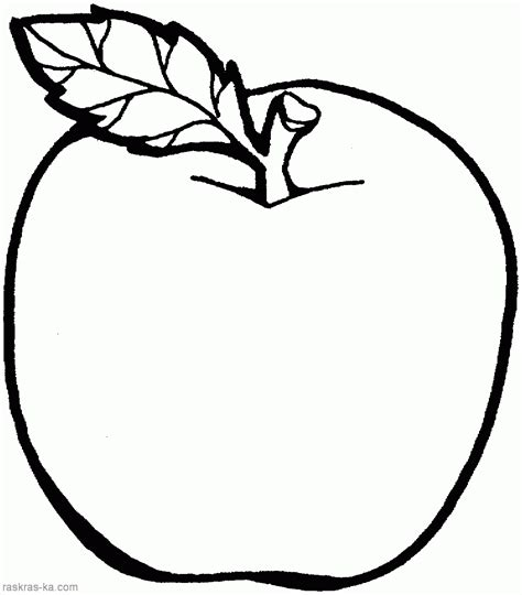 A Apple Coloring Page by Apple Colouring Pages For