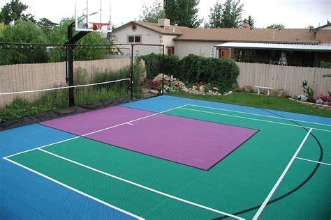 backyard court backyard courts neave sports