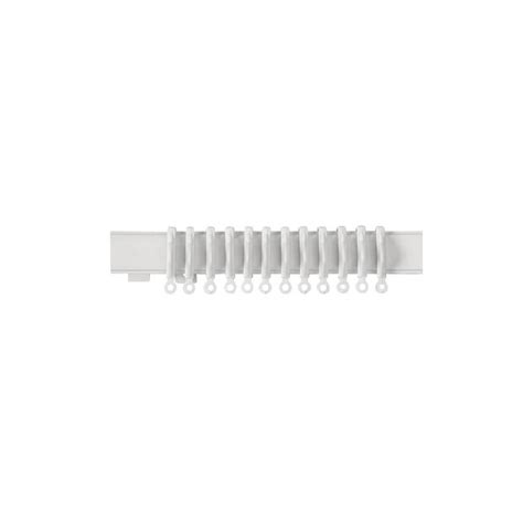 buy curtain rails online buy home 2 4m lightweight plastic curtain track white at