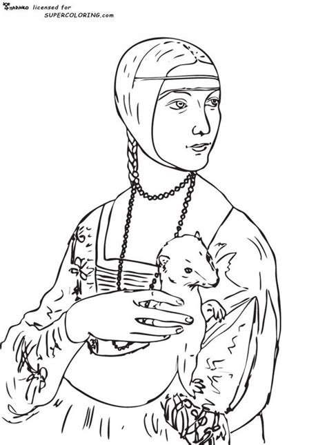 Mona Lisa Coloring Page Coloring Home Mona Coloring Pages