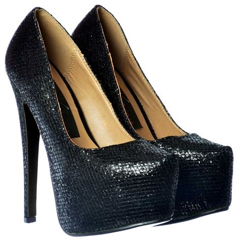 glitter high heel boots shoekandi sparkly shimmer glitter high heel stiletto