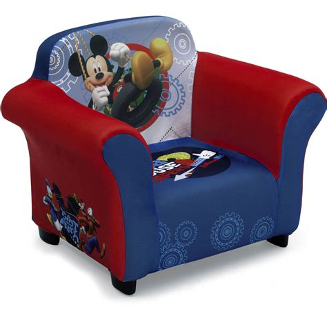 disney mickey mouse kids upholstered chair  sculpted
