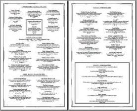 menu template free printable 1000 images about restaurant on restaurant