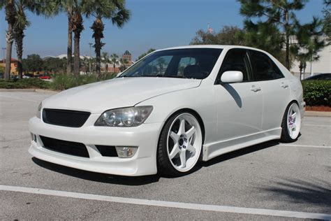 stanced lexus is300 white fl 2001 is300 vertex hks wald bcr s 19 s clublexus