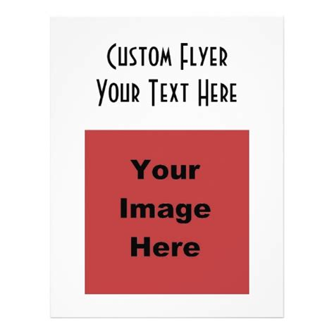 Blank Create Your Own Custom - blank create your own gift personalized flyer zazzle