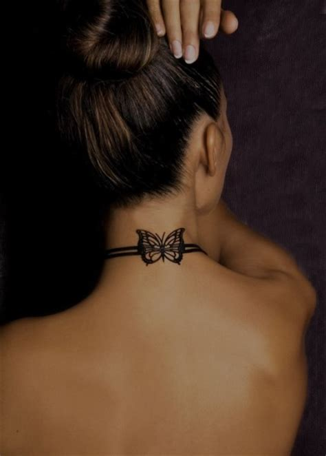 neck tattoo s butterfly girls tattoos on neck