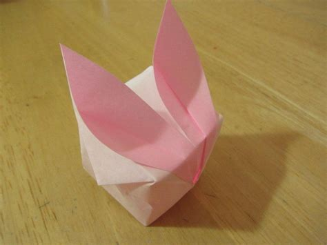 Easter Origami - origami easter bunny photo diagrams lesson 13