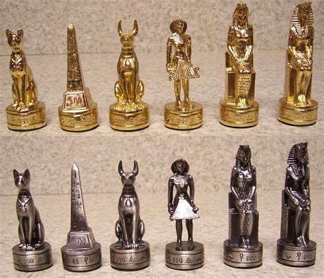 ancient chess chess set pieces pewter ancient egypt nib ebay