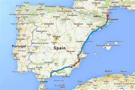 road travel map the ultimate spain road trip itinerary bruised passports