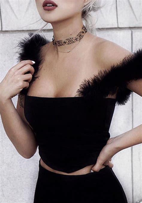 boat neck vest top black condole belt bandeau boat neck backless vest vests