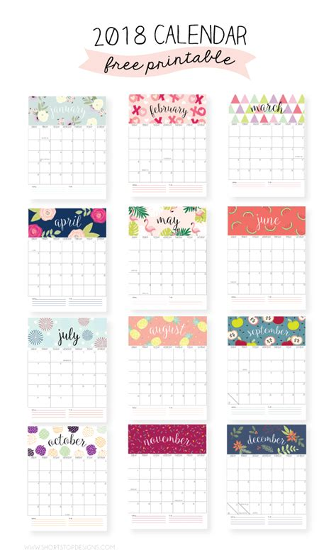 printable calendar that you can edit 20 free printable calendars for 2018 previous year