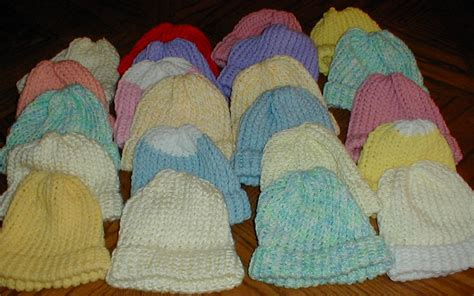 loom knit baby hat karens crocheted garden of colors 22 baby loom knitted