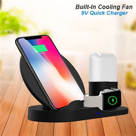qi wireless charger fast charging stand dock