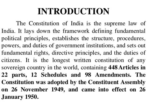 the introductory section of the us constitution indian constitution chapter 1 by swaminath s