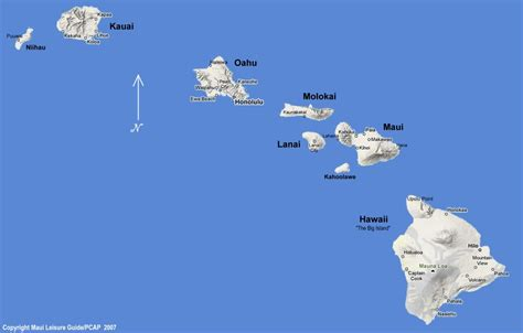 map of hawaii islands hawaiian islands map images