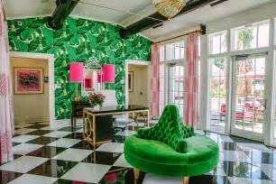 Borne settee round sofa green velvet black white harlequin floors