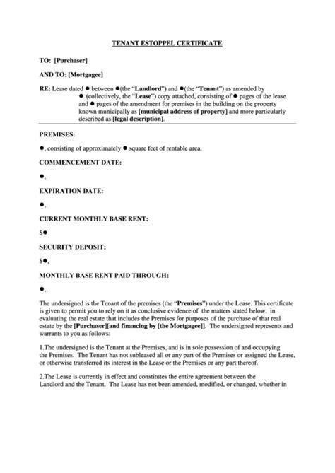 estoppel certificate template estoppel certificate template 28 images 15 estoppel