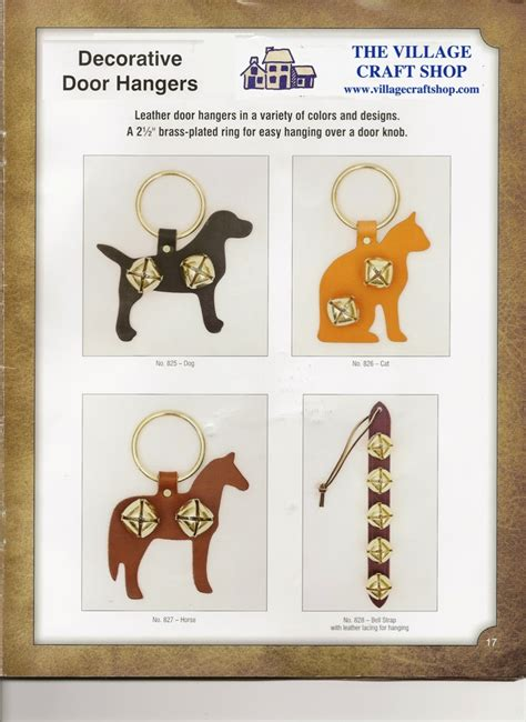 Handmade Door Hangers - handmade amish decorative animal leather door hangers w 2
