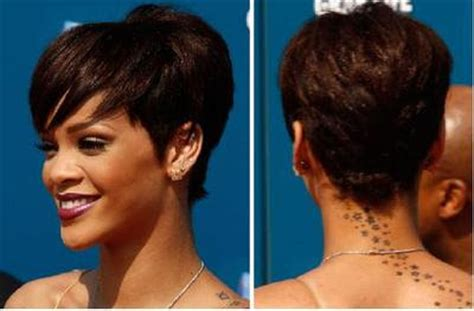 rihanna short hairstyles front and back top celebrity hairstyles 2008 beauty care