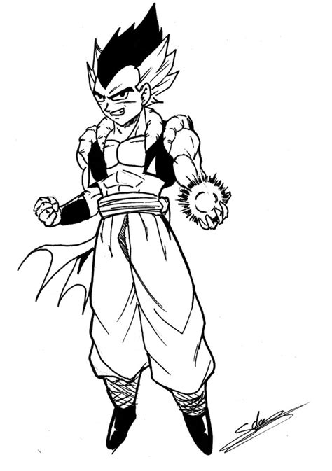 Gotenks Adulte By Chibidamz On Deviantart Coloriage Dessin Anime Dragon Ball Z L