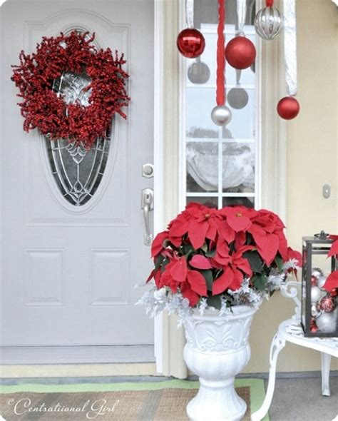 poinsettia on porch 60 beautifully festive ways to decorate your porch for diy crafts