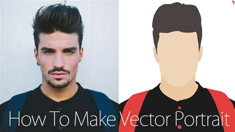 vector art tutorial photoshop cs4 photoshop tutorial vector portrait youtube