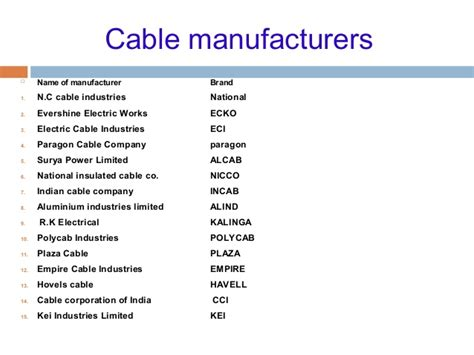 electrical wire names cable and laying