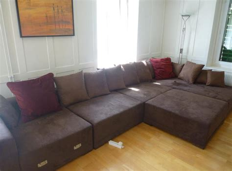 l couch for sale for sale huge beautiful l shaped microfibre brown couch