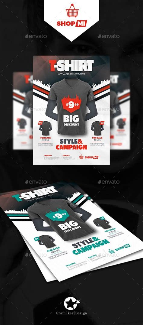 T Shirt Flyer Templates Flyer Template Template And Brochures Apparel Flyer Templates