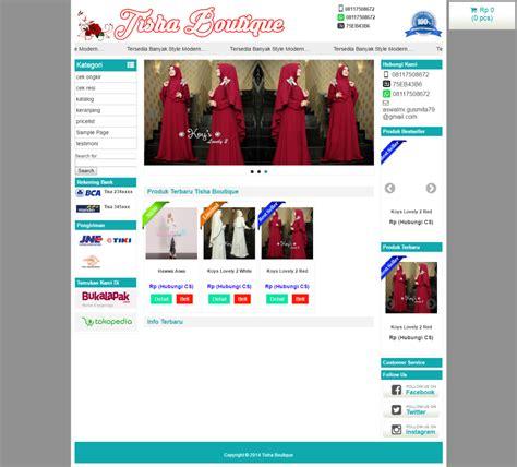 jasa membuat website toko online jasa pembuatan toko online butik busana muslimah untuk