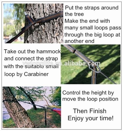 tree swing straps black color non stretched heavy duty tree swing straps