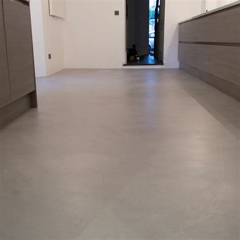 Microcement Kitchen Floor   Poured resin and concrete flooring