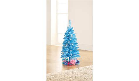 asda pre lit xmas trees 3ft blue pre lit tree shop george