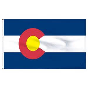 colorado state colors colorado 3x5ft flag with pole hem only banner