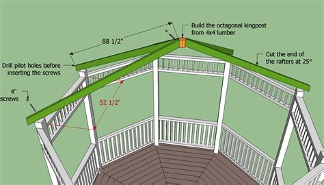 roof building plans free octagon gazebo roof plans google search gazebo
