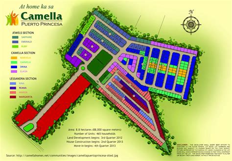 site development plan of the camella homes subdivision